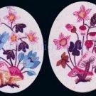 Rare Engel  Summer Crewel Embroidery Kits Mushrooms Wildflowers