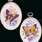 Rare Engel Wildflower Crewel Embroidery Kits Butterflies Flowers Monarch