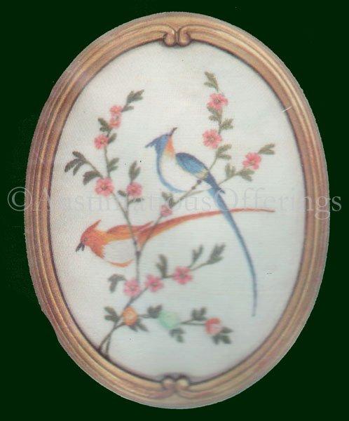 Rare Catherine Alexander Blue Oriental Birds  Crewel Embroidery Kit