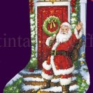Marcello Corti Santa Claus Gold Collection Counted Cross Stitch Christmas Stocking Kit
