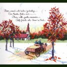 Rare D Morgan Tender Yesteryears Cross Stitch Kit Sampler Country Drive