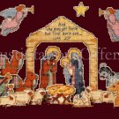RARE AVERY NATIVITY SCENE CROSS STITCH CHRISTMAS ORNAMENTS KIT
