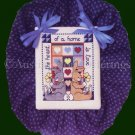 Rare Jeremiah Junction Bunnie Hugs Heart Of The Home is Love Cross Stitch Kit