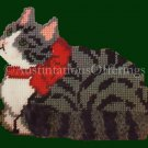 TIGER CAT NEEDLEPOINT PLASTIC CANVAS DOORSTOP KIT