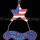 Rare Patriotic Celebration Needlepoint Kit God Bless America USA Flag Mobil