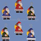 RARE ST NICK  CHRISTMAS ORNAMENTS PLASTIC CANVAS NEEDLEPOINT KIT