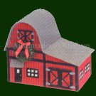 RARE  BARN BUILDING PLASTIC CANVAS NEEDLEPOINT KIT