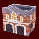 RARE  FIRE HALL BUILDING PLASTIC CANVAS NEEDLEPOINT KIT FIRE STATION