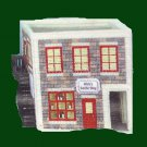 RARE CANDLE SHOP MUSICAL BUILDING PLASTIC CANVAS NEEDLEPOINT KIT