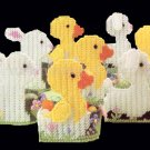 RARE EASTER CANDY HOLDERS PLASTIC CANVAS NEEDLEPOINT KIT