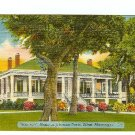 BEAUVIOR HOME JEFFERSON DAVIS BILOXI MS MISSISSIPPI postcard