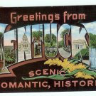 Vintage Greetings from Kentucky large Letter Postcard 1957