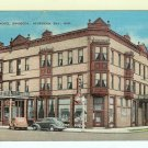 Hotel Swoboga Sturgeon Bay Wi postcard Linen unused Drug Store
