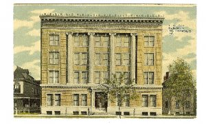 YWCA Building Indianapolis IN Indiana Early Postcard American Red Cross