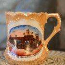 Vintage Porcelain Souvenir Cup Million Dollar Pier Atlantic City, NJ. New Jersey Made in Germany