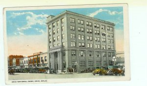 Enid National Bank Enid OK Oklahoma postcard Model t Cars 1921