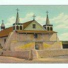 Old Church St Augustine Isleta New Mexico NM Postcard linen