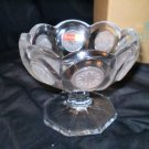 Avon Fostoria Coin Glass Footed Compote Jelly Dish MIB