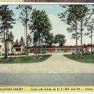 Hacienda Court Motel Jessup GA Georgia Fireproof Linen Postcard