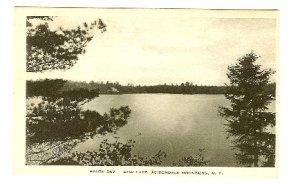 Star Lake Adirondack Mts NY postcard South Bay Albertype B&W