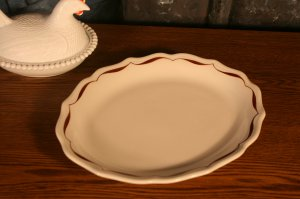 Syracuse China Restaurant Ware Serving Platter Tapestry brown Swirl edge Pattern Thanksgiving