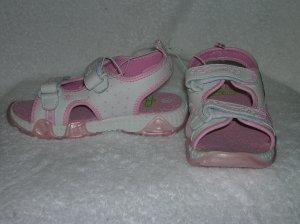 Sesame Street Zoe & Elmo Girl's Pink Sandals Size 10