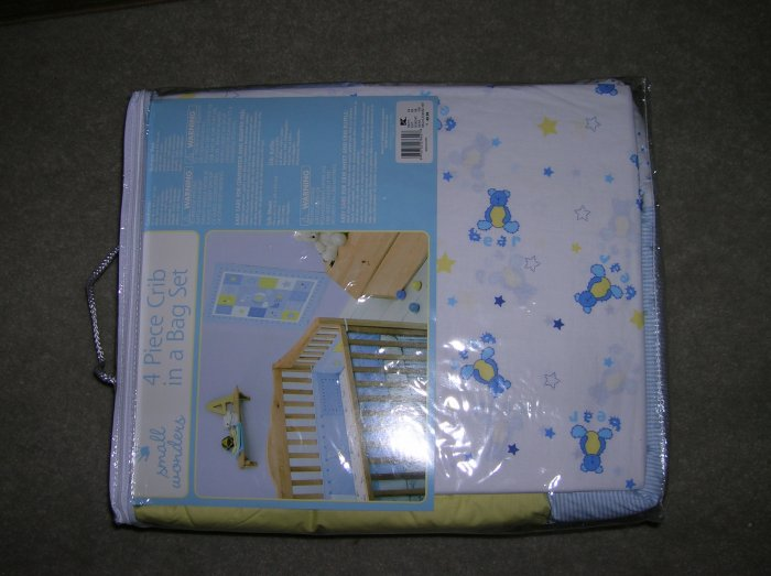 Small Wonders Bear 4pc Crib Bedding Set
