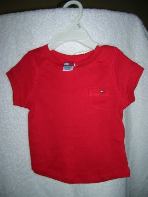 Tommy Hilfiger Infant Girls Kimberly Tee 18-24 Red