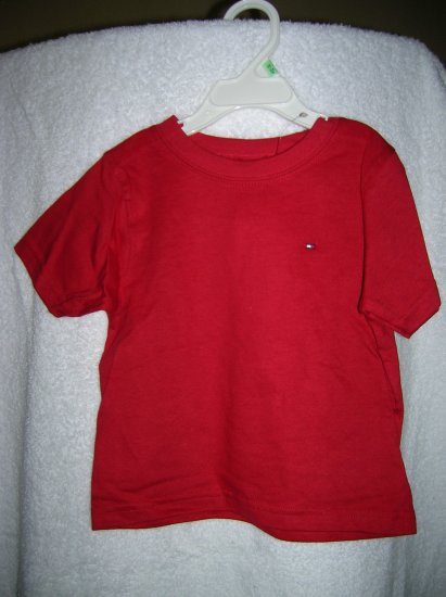 Tommy Hilfiger Boys S/S Nantucket Tee 12-24 Red