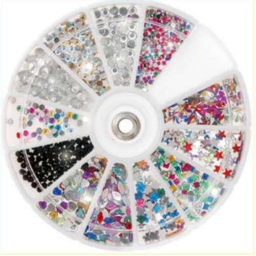 5 Nail Art Rhinestone Wheel