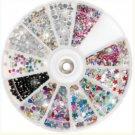 5 Nail Art Rhinestone Wheel