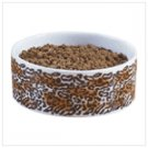 New! Leopard Print Dog Bowl37107