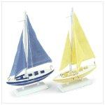 New! Wood Sailboats 37553