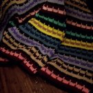 Multi Colored Striped Afghan