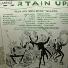 curtain up / music and plunk, tinkle, ting-a-ling / 50338