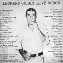leonard cohen ; live songs / kc31724
