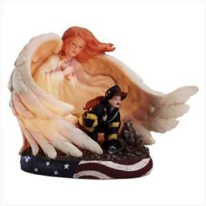 FIREMAN'S GUARDIAN ANGEL NIGHT LIGHT #33795