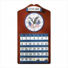 AMERICAN EAGLE CLOCK AND CALENDAR #35749