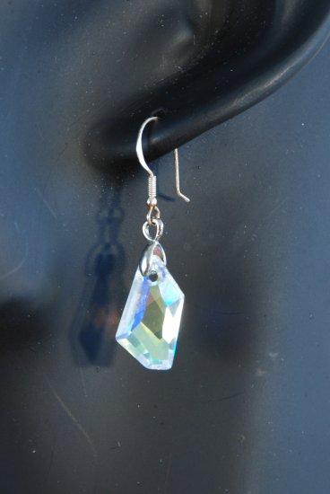Designer fashion, bridal, prom crystal earrings jewelry, Swarovski Crystal AB - EAR 0005