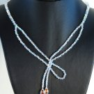 Designer fashion, bridal, prom crystal necklace jewelry, Swarovski Crystal AB  - NEC 0005