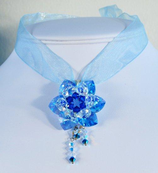 Designer Swarovski Aquamarine AB / Crystal AB / Capri Blue / Crystal Metallic Blue 2X - PEN 0002