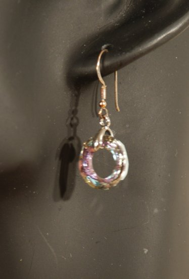 Designer fashion, bridal, prom crystal earrings jewelry, Swarovski Crystal Volcano - EAR 0004