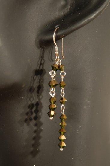 Designer fashion, bridal, prom crystal earrings jewelry, Swarovski Crystal Dorado 2X - EAR 0038