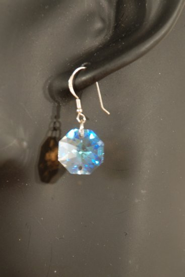 Designer fashion, bridal, prom crystal earrings jewelry, Swarovski Crystal Blue Shade - EAR 0045