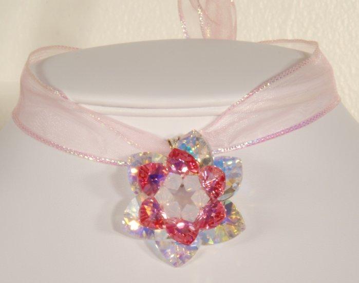 Designer fashion, bridal, jewelry, Swarovski Rose AB / Crystal AB / Light Grey Opal - PEN 0003