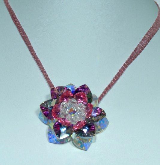 Designer fashion, bridal, jewelry, Swarovski Crystal AB / Vitrail Light / Rose AB - PEN 0006