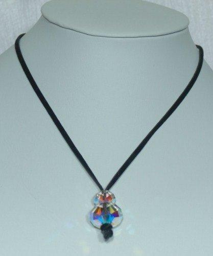 Designer fashion, bridal, prom crystal necklace jewelry, Swarovski Crystal AB - NEC 0048