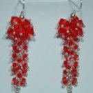 Designer fashion, bridal, crystal earrings jewelry, Swarovski Light Siam - EAR 0057