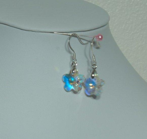 Designer fashion, bridal, crystal earrings jewelry, Swarovski Crystal AB - EAR 0065