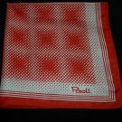 Vintage Paoli Red & White Polka Dot Scarf